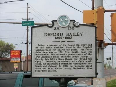 DeFord Bailey Marker image. Click for full size.