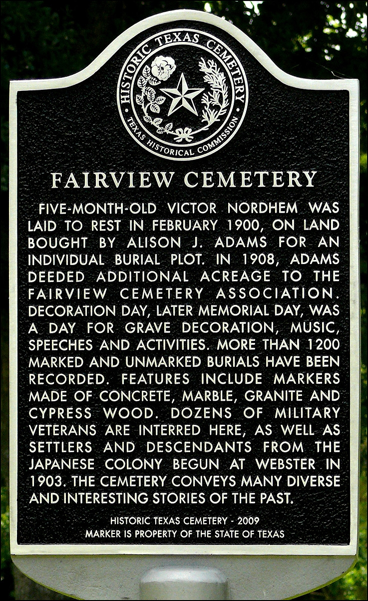 Fairview Cemetery Marker