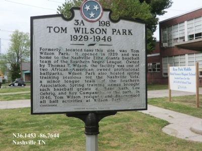 Tom Wilson Park Marker image. Click for full size.