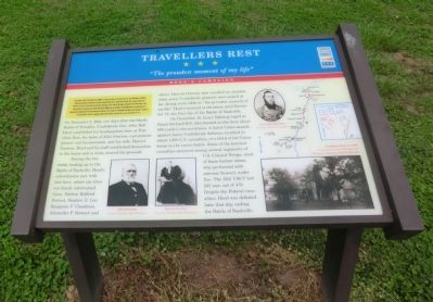 Travellers Rest Marker image. Click for full size.