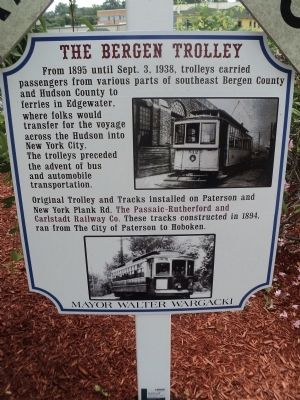 The Bergen Trolley Marker image. Click for full size.