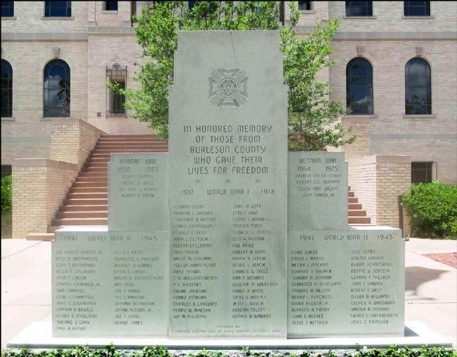 Burleson County War Memorial image. Click for full size.