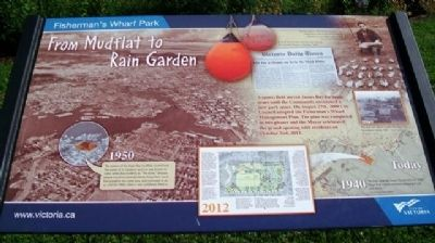 From Mudflat to Rain Garden Marker image. Click for full size.