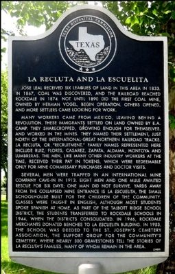 La Recluta and La Escuelita Marker image. Click for full size.