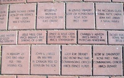 Representative Veteran Pavers at Anniversary Park image. Click for full size.