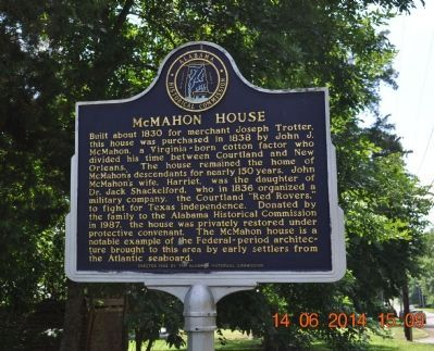 McMahon House Marker image. Click for full size.