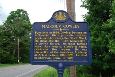 Malcolm Cowley Marker image. Click for full size.