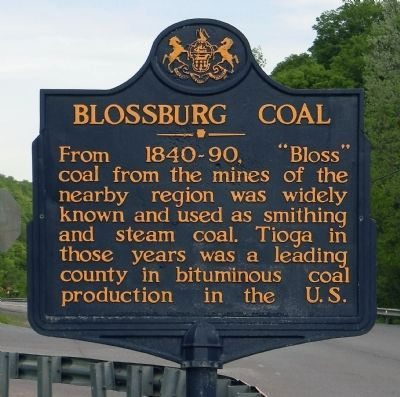 Blossburg Coal Marker image. Click for full size.
