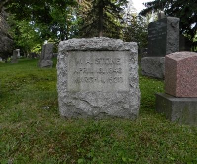 Grave of William A. Stone at the Wellsboro Cemetery image. Click for full size.