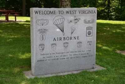 Welcome to West Virginia/Airborne Memorial image. Click for full size.