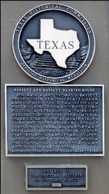 Bassett and Bassett Banking House Marker image. Click for full size.
