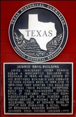 Schmid Bros. Building Marker image. Click for full size.