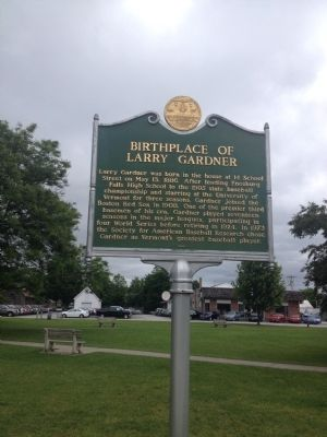 Birthplace of Larry Gardner Marker image. Click for full size.