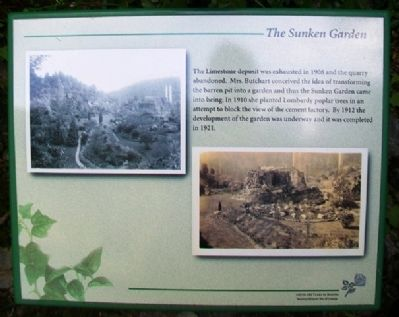 The Sunken Garden Marker image. Click for full size.