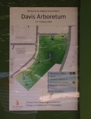 Location of Davis Arboretum at AU image. Click for full size.