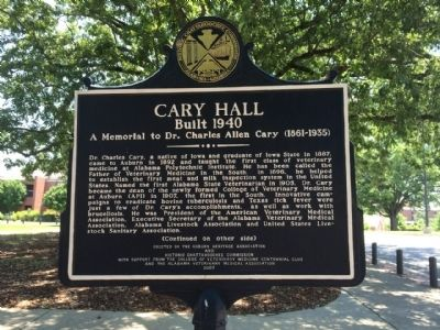 Cary Hall Marker image. Click for full size.