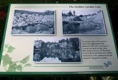 The Sunken Garden Lake Marker image. Click for full size.