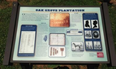 Oak Grove Plantation Marker image. Click for full size.