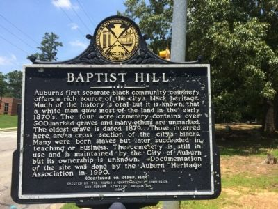 Baptist Hill Marker image. Click for full size.