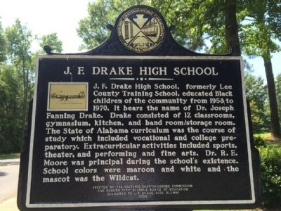 J.F. Drake High School Marker image. Click for full size.