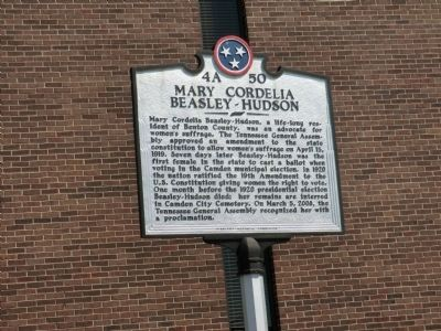 Mary Cordelia Beasley-Hudson Marker image. Click for full size.