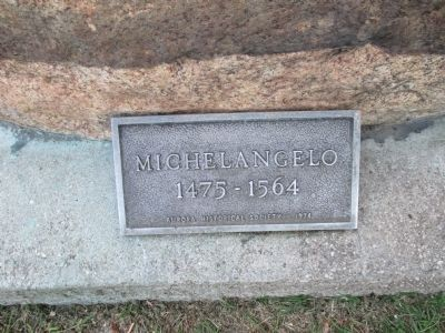 Michelangelo Sculpture Plaque image. Click for full size.