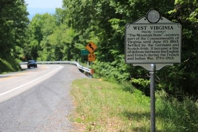 West Virginia / Virginia Marker image. Click for full size.