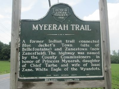 Myeerah Trail Marker image. Click for full size.