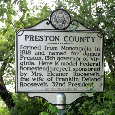 Preston County Face of Marker image. Click for full size.