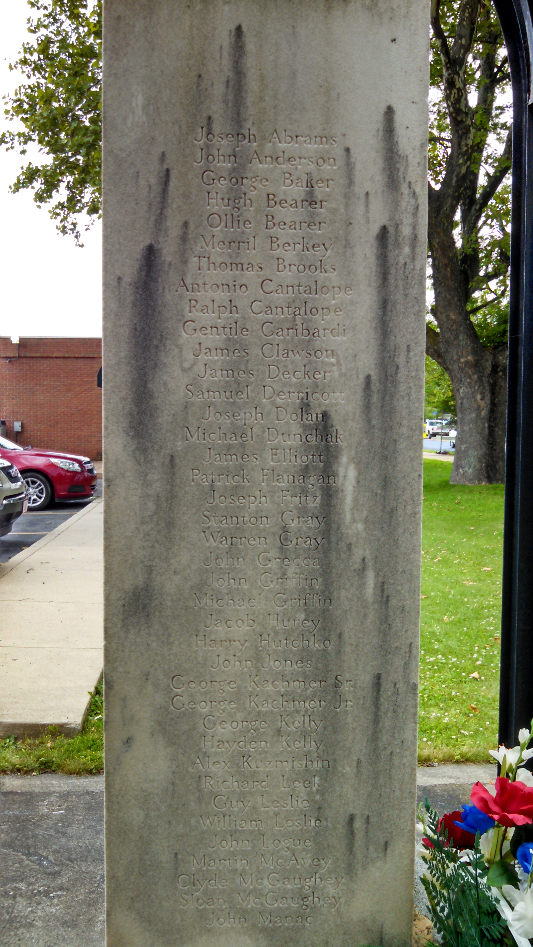 Dedicated to the 77 Men Named Here Marker