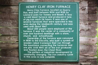 Henry Clay Iron Furnace Marker image. Click for full size.