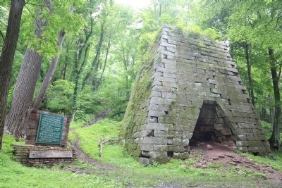 Henry Clay Iron Furnace and Marker image. Click for full size.