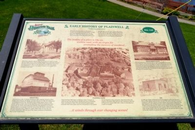 Early History of Plainwell Marker image. Click for full size.
