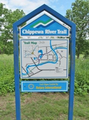 Nearby Chippewa River Trail Sign image. Click for full size.