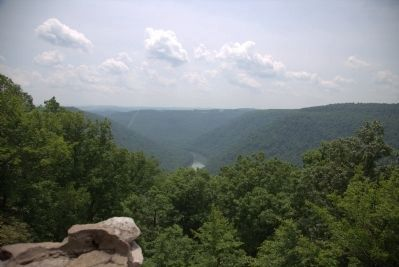 A View from Coopers Rock Overlook image. Click for full size.