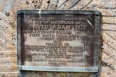 Site of the Birthplace of David Adam Ice Marker image. Click for full size.