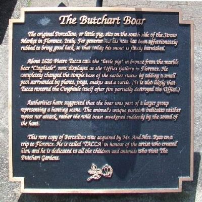 The Butchart Boar Marker image. Click for full size.