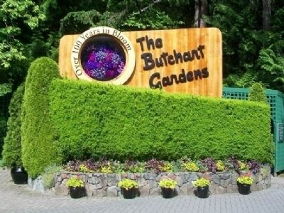 The Butchart Gardens Sign image. Click for full size.