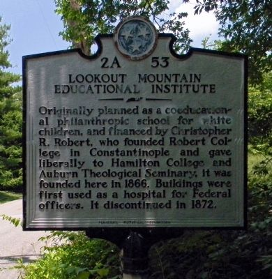 Lookout Mountain Educational Institute Marker image. Click for full size.