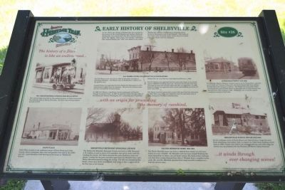 Early History of Shelbyville Marker image. Click for full size.