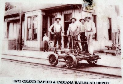 1871 Grand Rapids & Indiana Railroad Depot image. Click for full size.