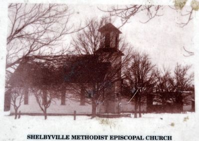 Shelbyville Methodist Episcopal Church Yesteryear image. Click for full size.