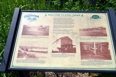 Welcome to Pine Creek Marker image. Click for full size.