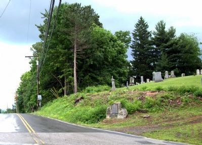 Marker at Cemetery at Route 119 image. Click for full size.