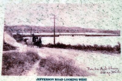 Jefferson Road Looking West Yesteryear image. Click for full size.