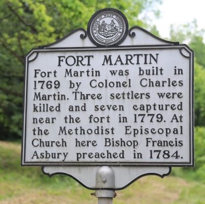 Fort Martin Marker image. Click for full size.