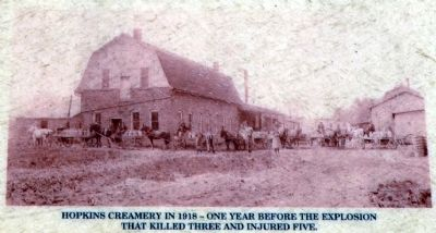 Hopkins Creamery in 1918 image. Click for full size.
