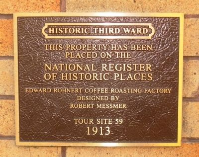 Edward Rohnert Coffee Roasting Factory Marker image. Click for full size.