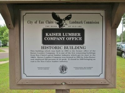Kaiser Lumber Company Office Marker image. Click for full size.