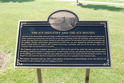 The Ice Industry and the Ice Houses Marker image. Click for full size.
